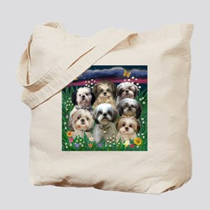 7 Shih Tzu Darlings Tote Bag